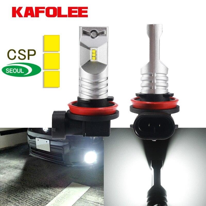 Автомобильные лампы KAGOLEE, 2 шт., светодиодные H11 H8 H9 9005 HB3 H10 H16JP 9145 9140 9006 HB4, Автомобильные противотуманные лампы 3600lm CSP Y19 12V 24V