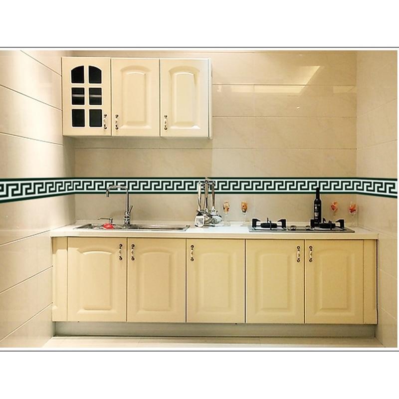 New 4.2m Bathroom Tile Large Wall Sticker For Glass Window PVC Kitchen Waist Line Mural Adhesive Wallpaper Vinyl Stickers Border