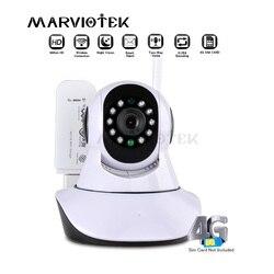 Câmera de segurança em casa ip sem fio inteligente infravermelho mini câmera hd gravação áudio vigilância cctv câmera wi fi 3g sim slot para cartão p2p