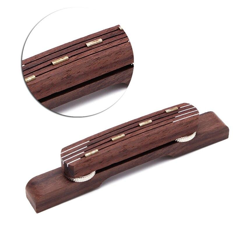 1PC pièces de guitare Durable palissandre guitare pont mandoline pont pour Hofner basse guitare réglable Y51D