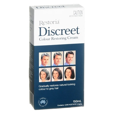 New Original Restoria Discreet Colour Restoring Cream Lotion Hair Care150ml Reduce Grey Hair for Men and Women