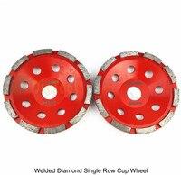 DIATOOL 2pcs 5inch Diamond Single Row Grinding Cup Wheel For Concrete Masonry Diamond Cup Wheel Bore 22.23mm Grinding Disc