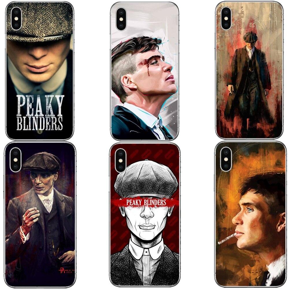 Carcasa de teléfono Peaky Blinders serie TV para iPhone X 8 8 Plus 7 7Plus 6 6splus 5 5S SE funda dura de PC bolsa de carcasa Capa