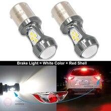 HSUN 2 pièces S25 1157 BAY15D 16SMD 3030 puce LED P21/5W 360 degrés Shine lampe de conduite ampoule de frein de voiture approvisionnement de secours lumière rouge 12V