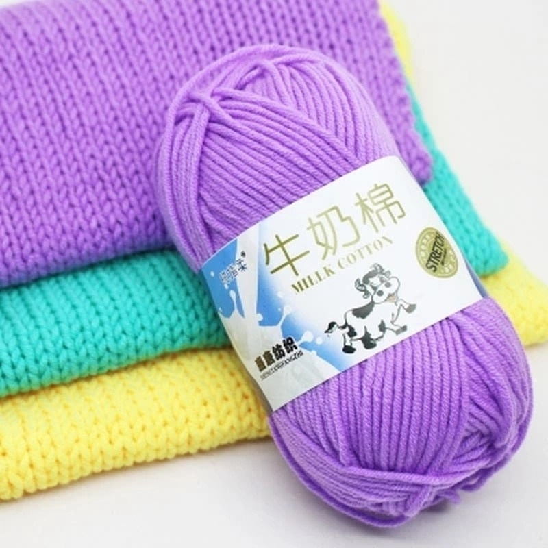 50g/pc Winter DIY Soft Milk Cotton Yarn Baby Wool Yarn for Knitting Hand Knitted Blanket Sweater Scarf Doll Crochet Yarn
