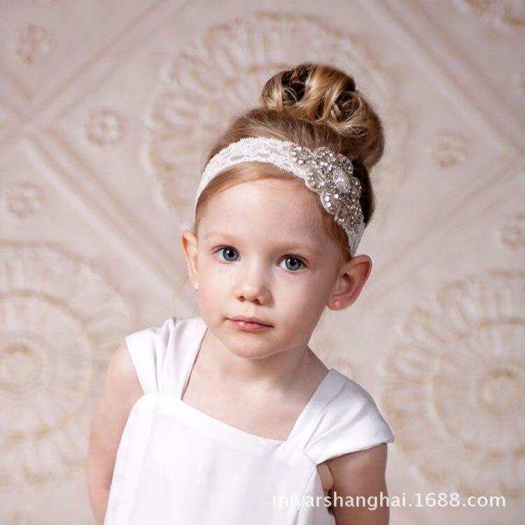 Модные детские головные уборы, элегантные бриллиантовые подарочные аксессуары для волос на день рождения, заколки для волос с цветами