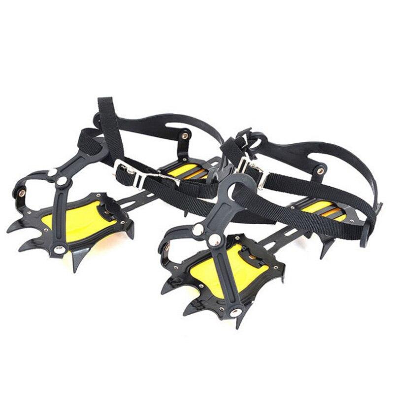 Cubierta de calzado deslizante con diez dientes para exteriores, equipo de escalada de nieve, garra para nieve, zapatos de senderismo