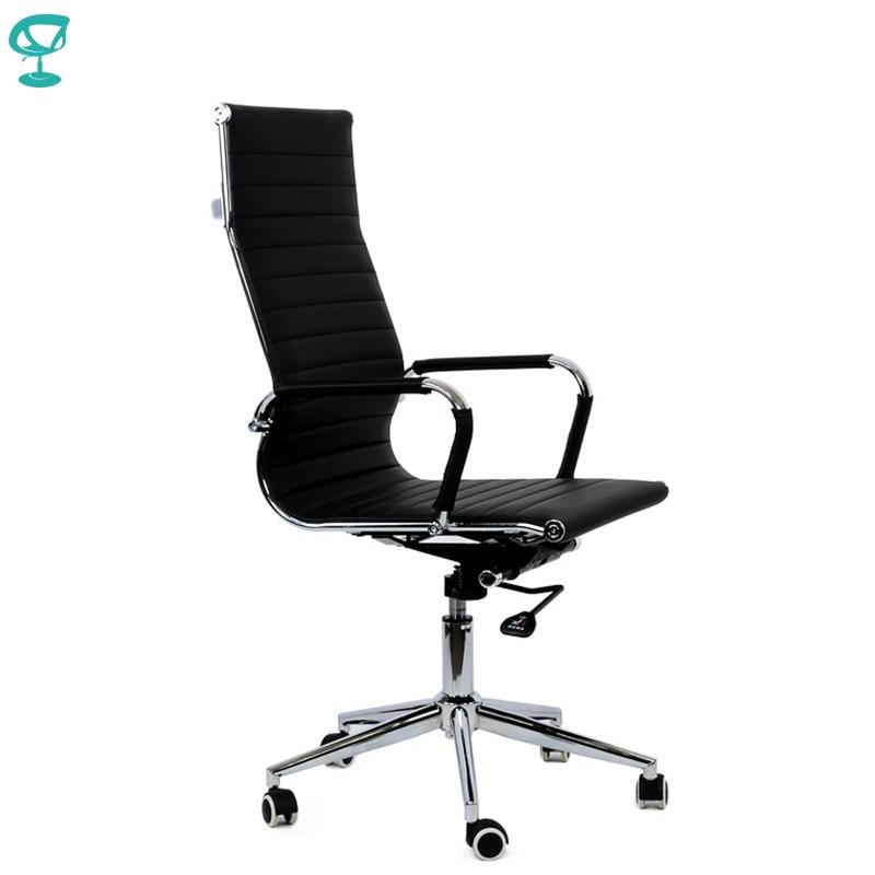 95173 Кресло для персонала Barneo K 110 черная кожа высокая спинка кресло офисное