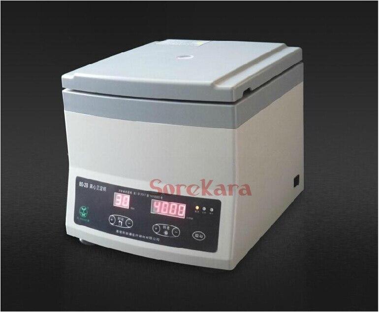 220V 300-4000RPM 12x20ml Rohre 80-2B Labor Zentrifuge Maschine Timer Digital Display