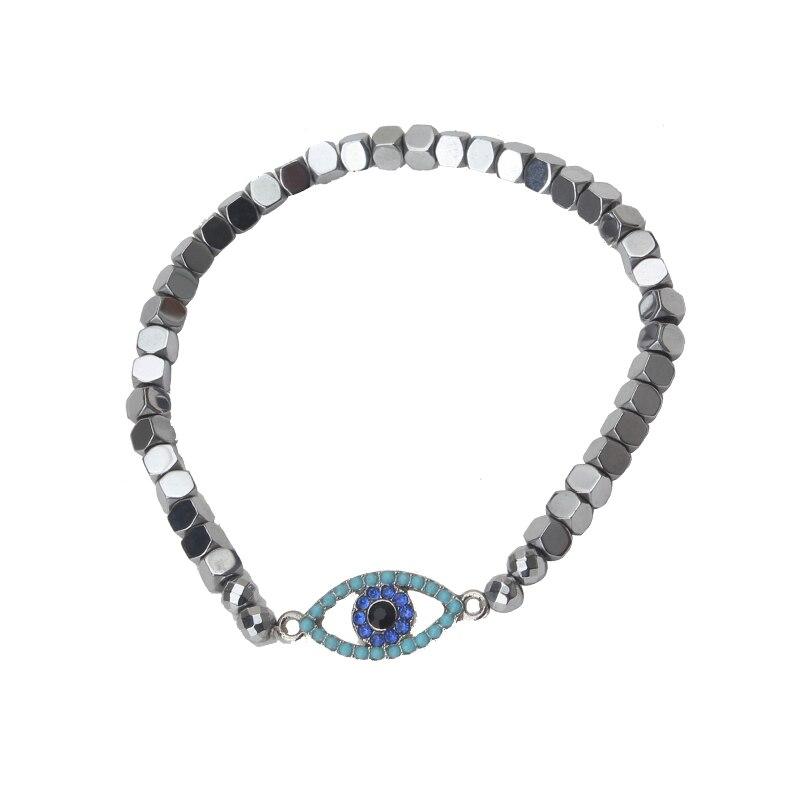 Сглаза 1 шт новая мода сглаза черный/белый браслет из бисера трендовый круглый зловещий глаз ручной браслет из бусин для женщины мужчины юве...