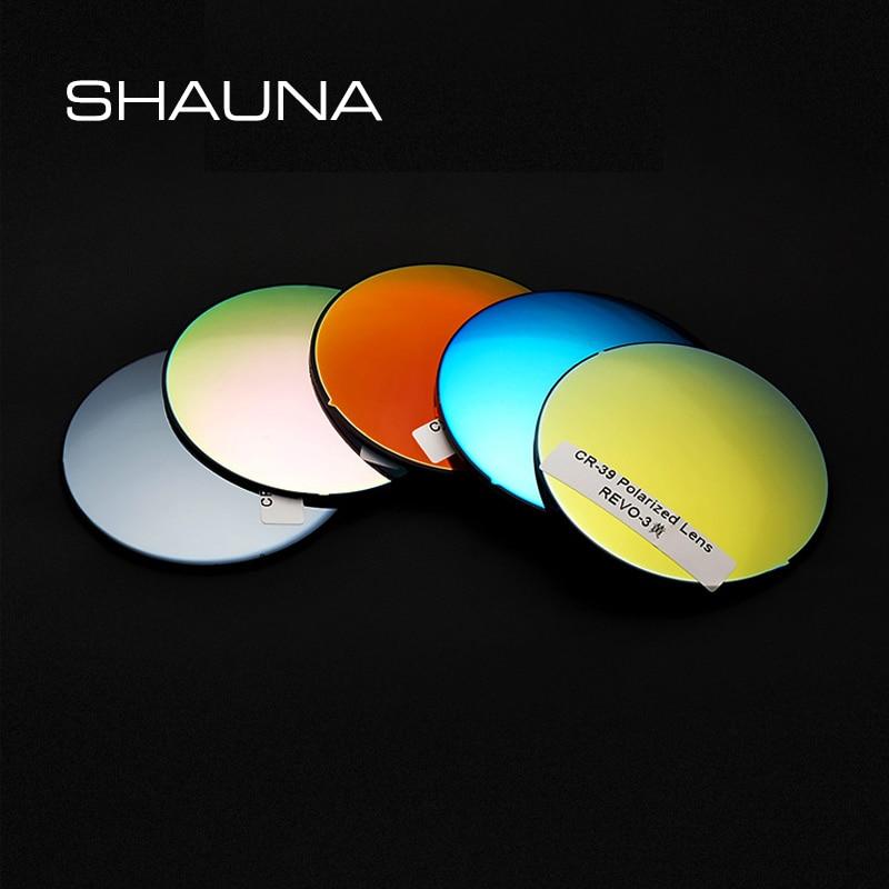 SHAUNA 1.50 1.61 1.67 Polarized myopia sunglasses Prescription Lenses Mirror Lens UV400 Glasses Comp