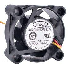 4020HH12B NF4 4 cm 4020 40mm fan 12 V 0.24A 3-draad riem monitoring snelheid dubbele kogellager grote luchtvolume koelventilator