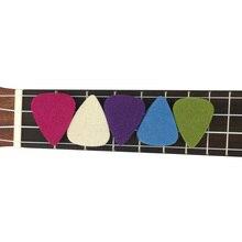 Guitare douce ukulélé feutre pics 5 couleurs Pack 3.5mm épaisseur Concert Soprano ténor 21 23 26 accessoires Plectrum