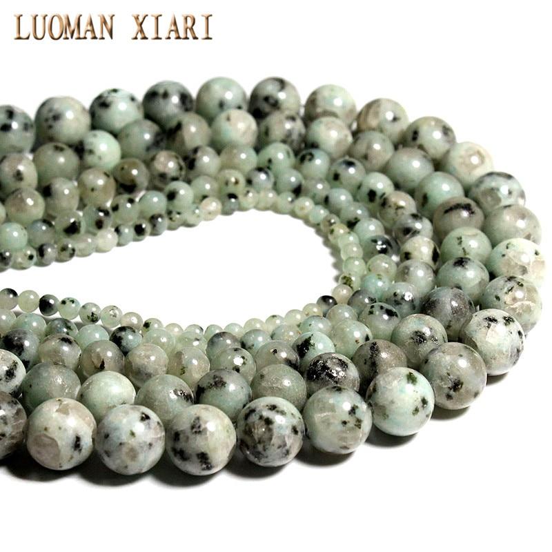 Wholesale AAA+ Granite Tienshan Blue natural Stone Beads For Jewelry Making DIY Crystal Bracelet 4/ 6/8/10 /12 mm Strand 15.5'