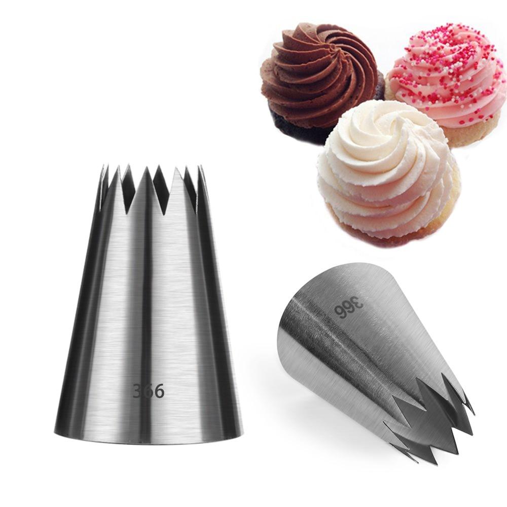 Boquillas de 3 estilos para glaseado, boquillas de acero inoxidable para pastelería, boquillas para cocina, decoración de tortas y cupcakes
