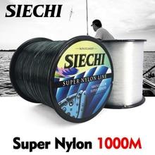 SIECHI Super fuerte línea de pesca de nailon 1000M 4-28LB Material de nailon para pesca de carpa