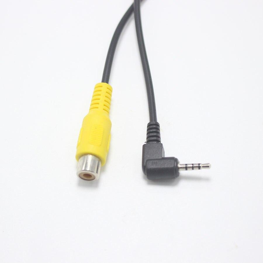 EClyxun 1 piezas 2,5mm 4 polos enchufe a RCA hembra con Cable de 16 m para navegador GPS 2,5mm entrada de vídeo Cable AV de marcha atrás