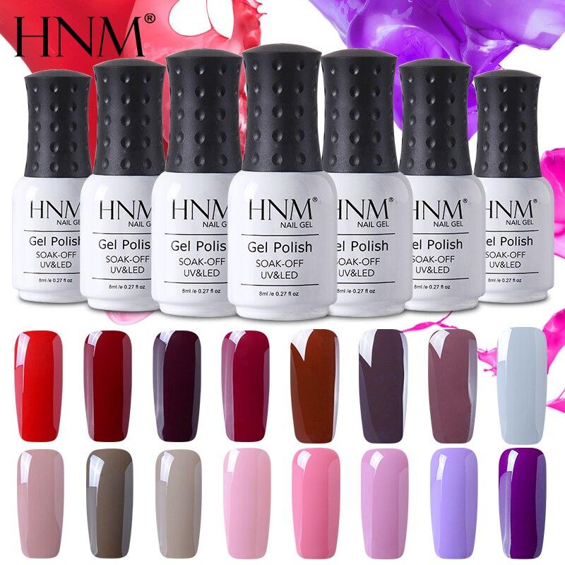 HNM Pure Color UV Gel Nail Polish Semi Permanent Hot 30 Colors Painting Gellak Hybrid Varnish Stamping Enamel Primer Top Base