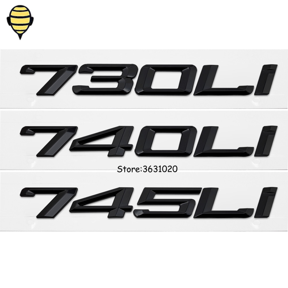 Diseño de coche de Metal para BMW serie 7 Auto 3D tapa del maletero pegatina trasera emblema calcomanía insignia para BMW 730Li 740Li 745Li E71 E87 X7 Xdive