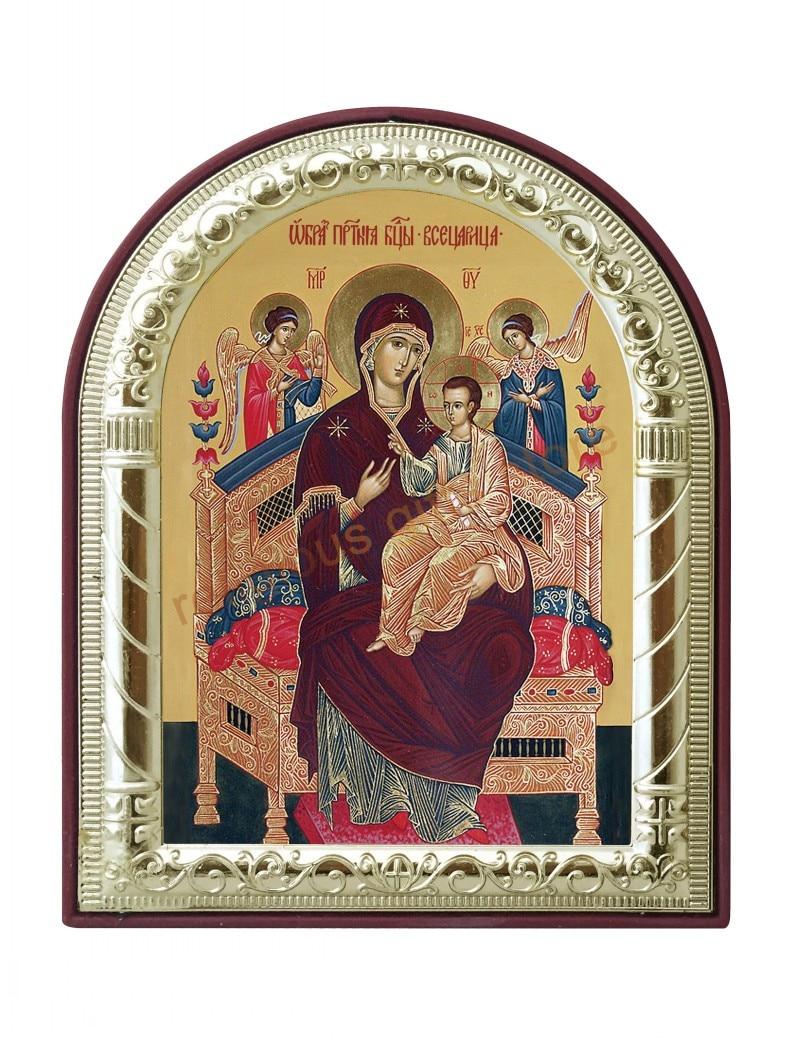Décor de la famille de jésus-christ   Pendentif mural, icône chrétienne, de la vierge chrétienne et des enfants, icône murale, religieuse catholique, en or, métal et argent