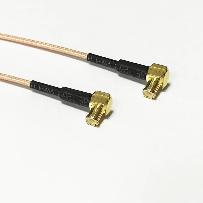New MCX Male Plug Right Angle Switch MCX Male RA RG178 coax Cable 15CM 6