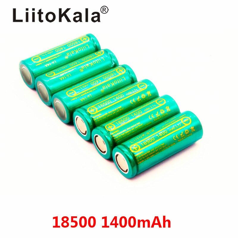Bateria de Lítio Li-ion para Lanterna Recarregável de 1400 Liitokala Bateria 3.7 v Recarregável Batteies Led Lii-14a 18500 Mah