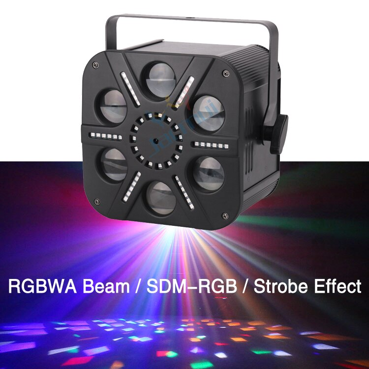 Moonflower RGBWA لون واحد شعاع تأثير SDM-RGB تأثير القوية 3in1 Led ستة أضواء للمسرح العين