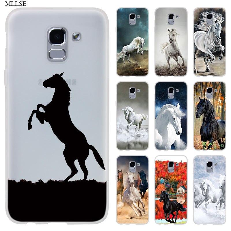 Funda de caballo de gran belleza Frederik para Samsung J8 J4 J6 Plus 2018 J5 J3 J7 2017 EU 2016 Prime, funda de teléfono de silicona, Fundas