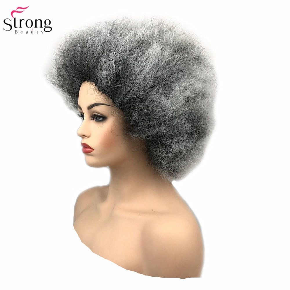 StrongBeauty Jumbo Afro Wig Synthetic Hair Pink/Yellow Clown Wigs Cosplay Halloween
