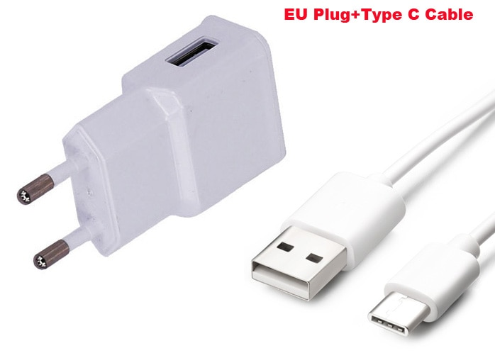 2A adaptador UE EUA cargador de teléfono móvil + Cable de datos USB tipo C para BlackBerry Motion/2 DTEK60 Neon, para Xiaomi mi 5S/5S Plus
