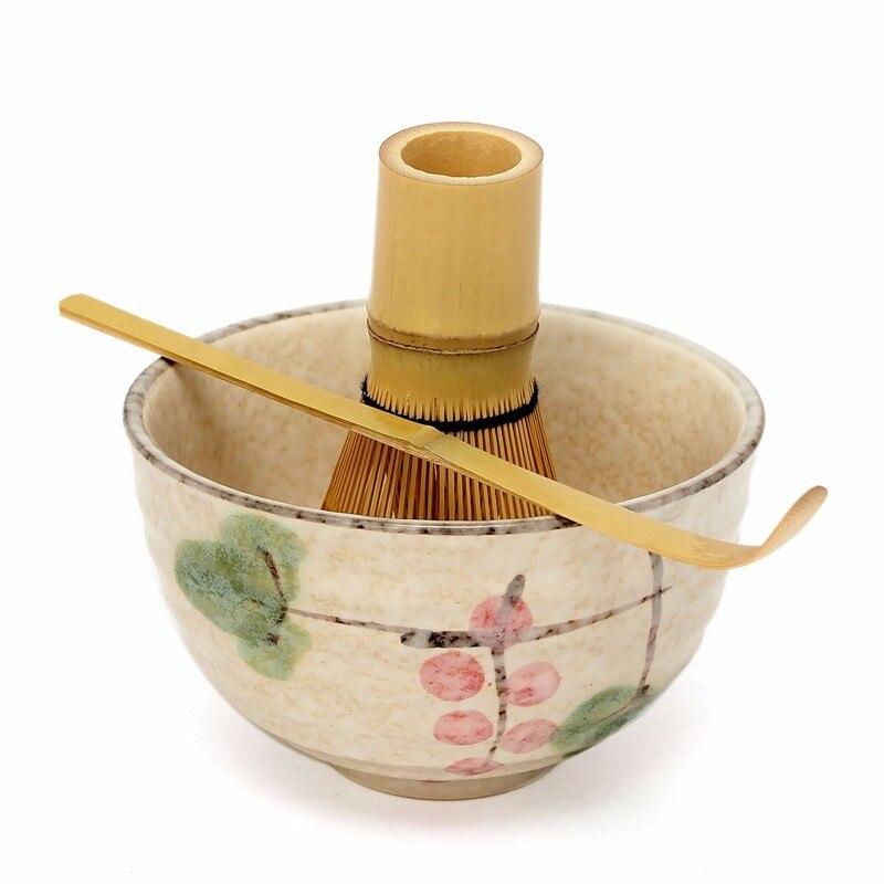 Japanese Matcha Bowl Whisk & Scoop Green Tea Powder Tea Set Tea Ceremony Traditional Matcha Tools Handmade Tea Accessories