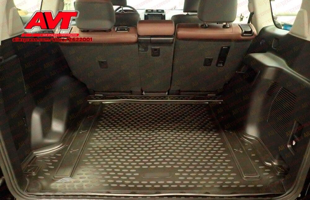 Esteras para maletero para Toyota Land Cruiser Prado 150 2017- 1 Uds alfombras de goma antideslizantes accesorios de estilo de coche interior de goma