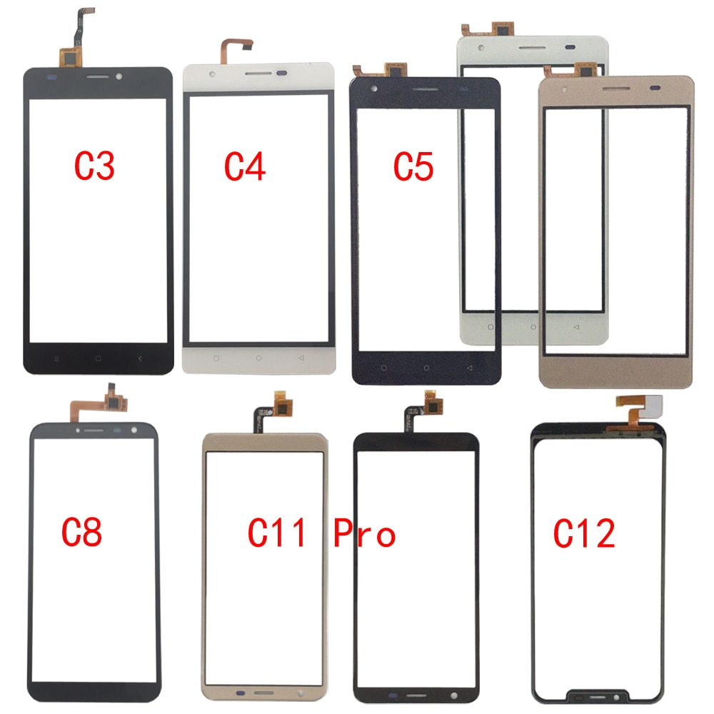 Touch Screen Glass For Oukitel C3 C4 C5 C8 C11 Pro C12 Touch Screen Glass Digitizer Panel Glass Sens