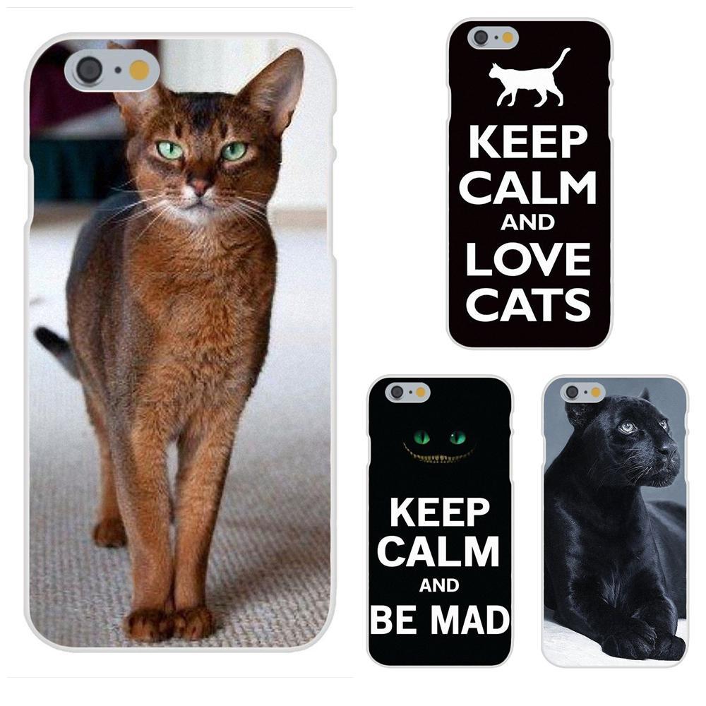 Soft Shell mantener la calma y amor gatos negro para Galaxy J1 J2 J3 J330 J4 J5 J6 J7 J730 J8 2015, 2016, 2017, 2018 Mini Pro