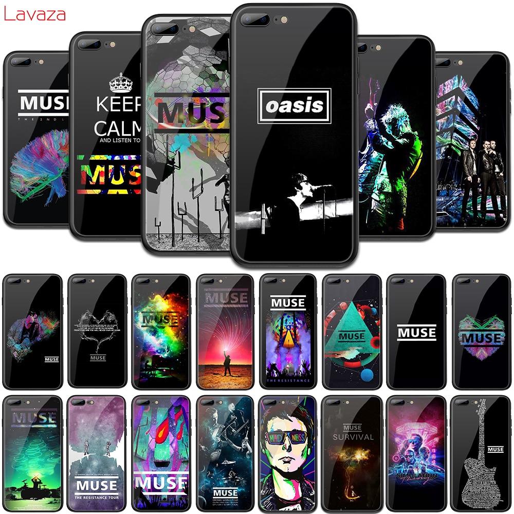 MUSA Lavaza Vidro Temperado TPU Capa para iphone 4 6 6S 7 8 Plus 5 5S SE XR X XS 11 Pro MAX Caso