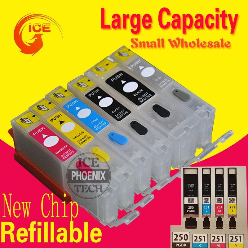 Для Canon MG 7520 7120 6320 iP 8720 iX 6820 чернильный картридж PIxma принтер 6 цветов многоразовый картридж PGI250