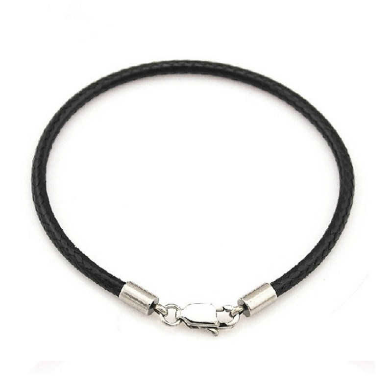 Venda graciosa corda pulseira de couro único bonito preto/vermelho 1pc bonito sorte unisex pulseira presente dropshipping