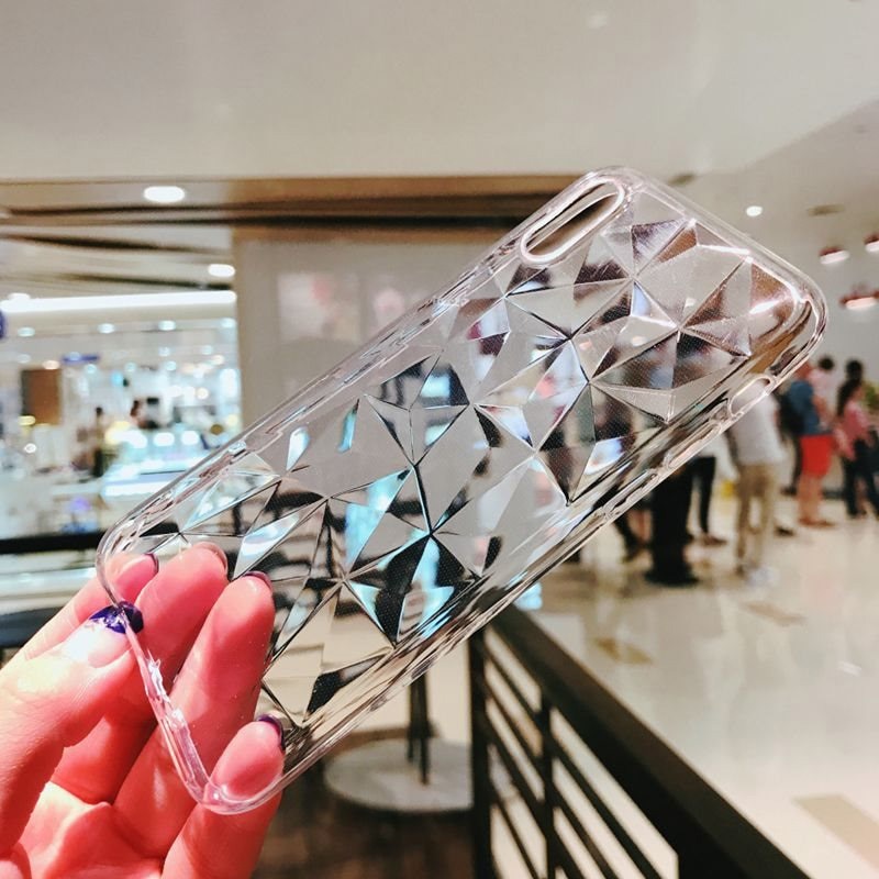 Cool Diamond Texture Case For Samsung GALAXY A10 A20 A30 A40 A50 A60 A70Back Cover For GALAXY M10 M20 M30 Luxury Transparent Bag