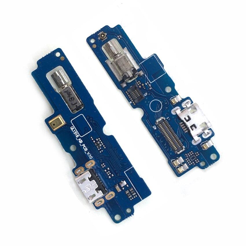 Conector de puerto de carga USB Cable flexible para ASUS Zenfone 4 Max Pro ZC554KL con micrófono de Motor vibrador