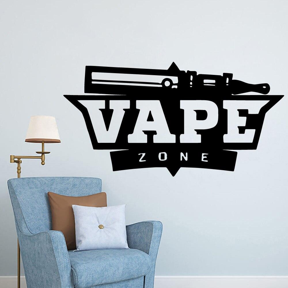 Envío Gratis, pegatina decorativa para VAPE, calcomanías impermeables para Vape, pegatinas para pared de tienda, papel tapiz de Pvc, calcomanía comercial, Mural de vinilo