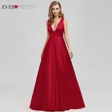 Ooit Pretty Sexy Rode Prom Jurk Lange Sparkle A-lijn Diepe V-hals Formele Jurken Elegante Partij Jassen EP07978 Vestidos De Gala 2020