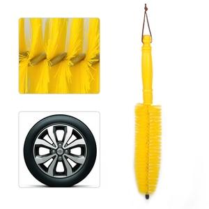 Image 1 - Beler, новинка, 1 шт., желтое колесо, шина, обод, ступица, длинная щетка, щетка для очистки, моющий инструмент для автомобиля, автомобиля, мотоцикла