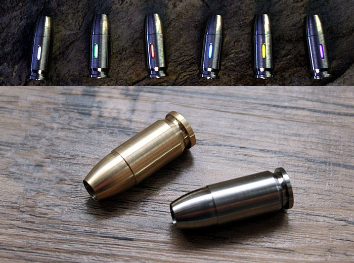 Bullet Head EDC Knife Lanyard Titanium Knife Beads Paracord Can Fits Tritium Tube Umbrella Rope Outd