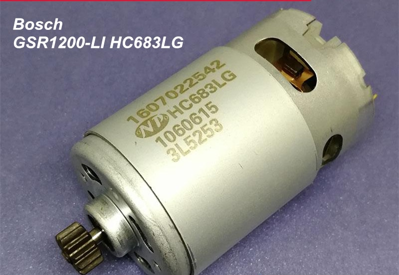 GSR1200-LI 12V Rechargeable drill screwdriver machine maintenance motor HC683LG with 12T gear