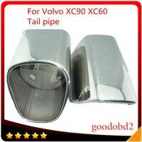 צעיף עצה נירוסטה פליטה צינור פליטת צעיף צינורות זנב רכב Fit עבור וולוו XC90 XC60 צינורות זנב רכב אוטומטי אבזרים