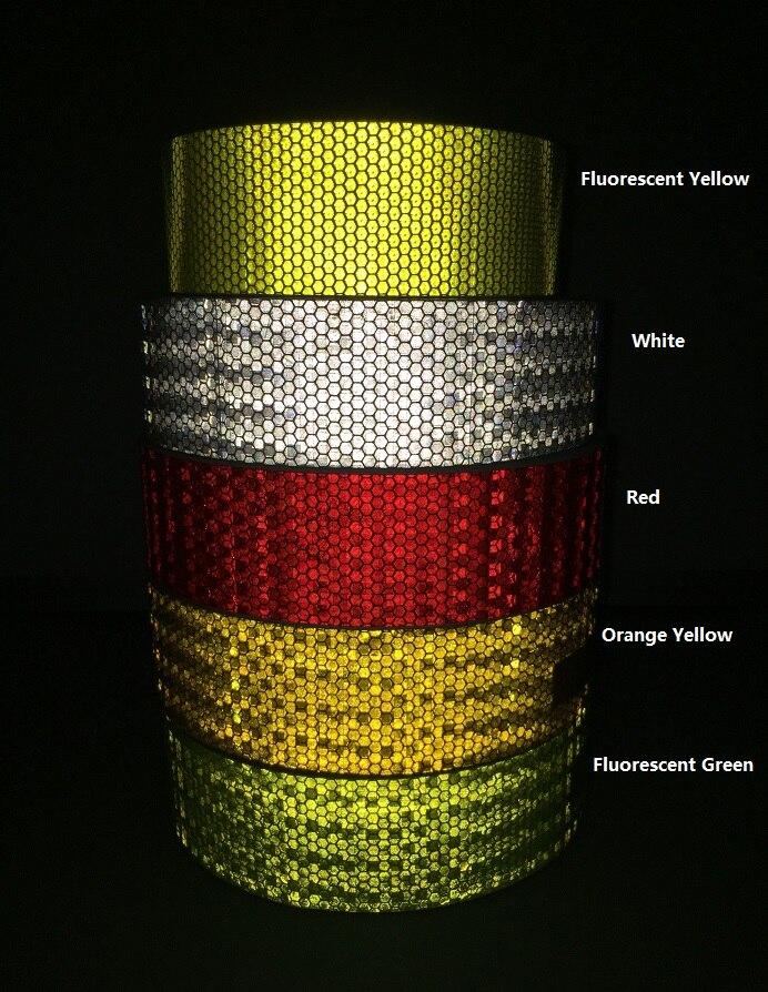 شريط تحذير عاكس PVC ذاتي اللصق ، شريط تحذير 5 سنتيمتر × 45 م للشاحنة ، المرور على الطرق ، موقع البناء ، الجدار ، الجدار