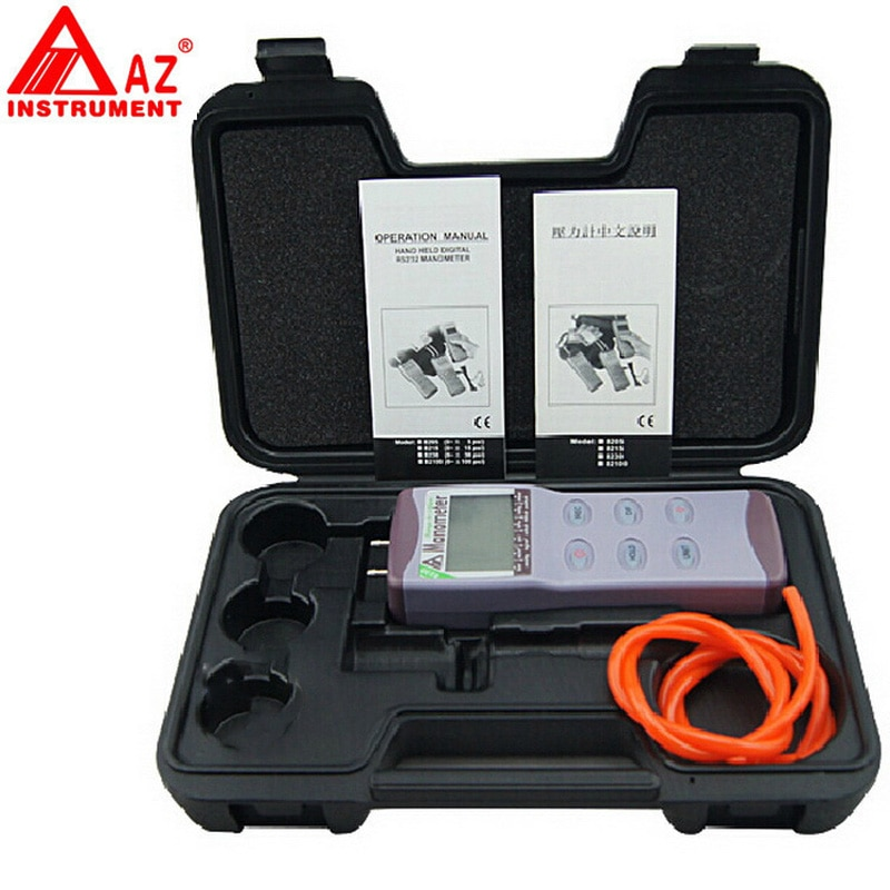 Manómetro de presión digital AZ8230 manómetro de presión diferencial manómetro de presión medidor digital de medición de presión 0 ~ +/-30 psi