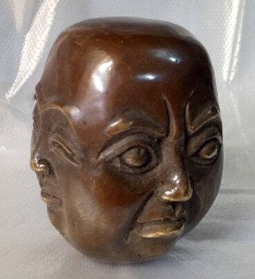 Escultura antigua china de cobre fino presidente de Café Estatua de la Mesa Mao por favor regalo