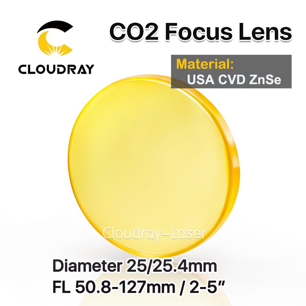 Cloudray-عدسة تركيز CVD ZnSe ، قطر العدسة ، الولايات المتحدة الأمريكية 25/25.4 مللي متر FL50.8/63.5/101.6 مللي متر 2-5