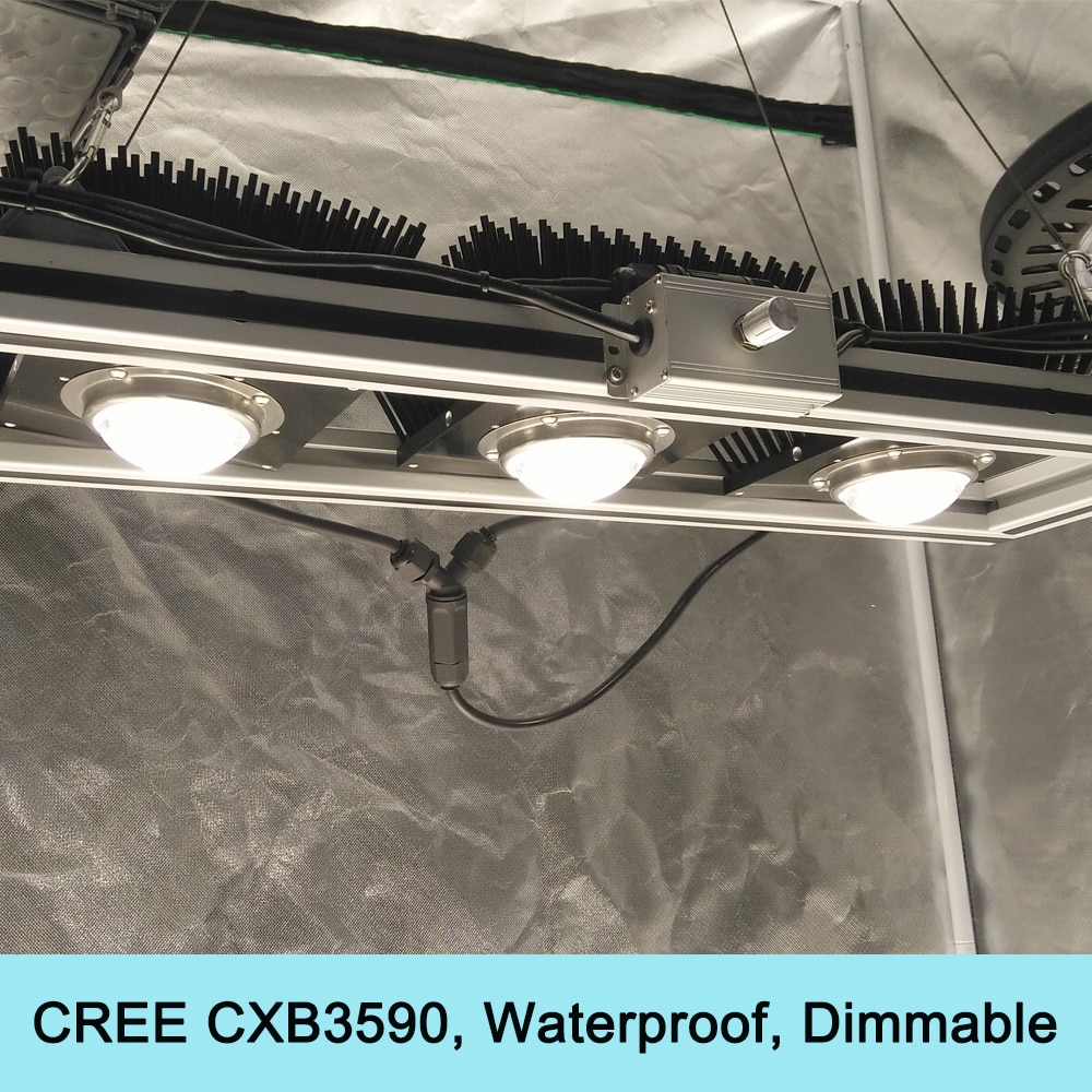 450 Watt Cree CXB3590 COB Wachsen Licht Dimmbare Vollspektrum Led-lampen Wasserdichte für Gewächshaus Pflanzen Sämling, Veg und Blühende